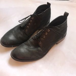 EUC {Frank Wright} Mens Leather Chukka Boot